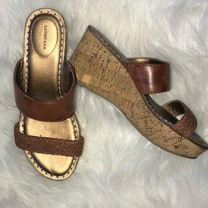 Lands End Brown Sandals Size 6